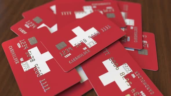 Thumbnail for Pile of Credit Cards with Flag of Switzerland