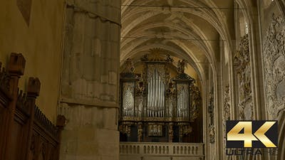 Medieval Church Organ in Church