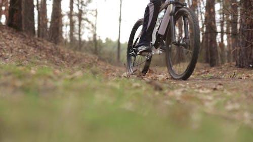 Man on the Bike Braked