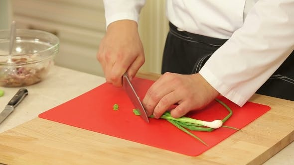 Thumbnail for Green Onions Chopping