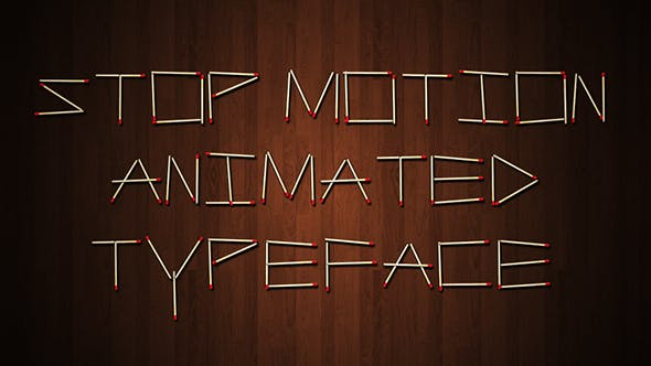Thumbnail for Stop Motion Typeface | After Effects Template