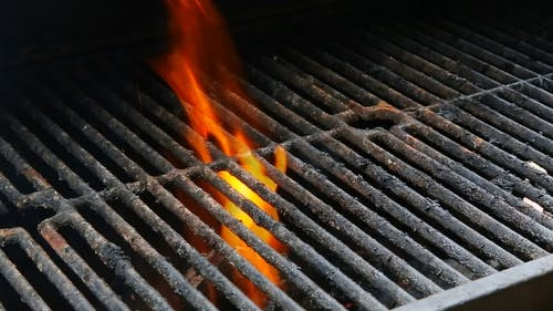 BBQ Grill and Glowing Coals