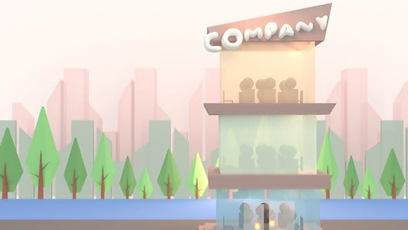 Thumbnail for 3D Cartoon Business Company Office Building