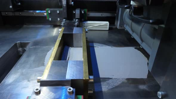 Thumbnail for Close Up Of 3 D Printer To Print The Model Mirror Surface