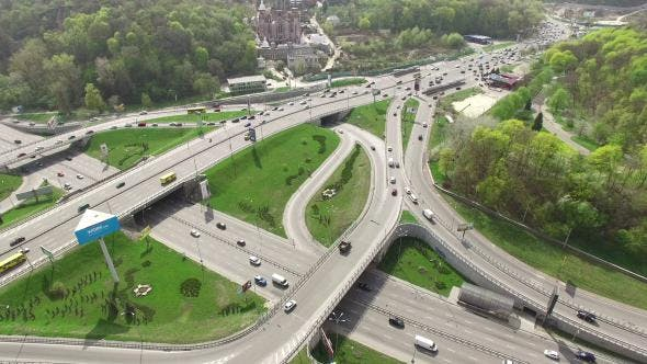 Thumbnail for Aerial View Of Highway Interchange In Kyiv