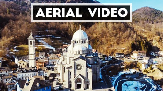Thumbnail for Aerial Shot of an old Italian Cathedral