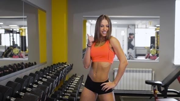 Thumbnail for Satisfied Fitness Woman Posing After Successful Training