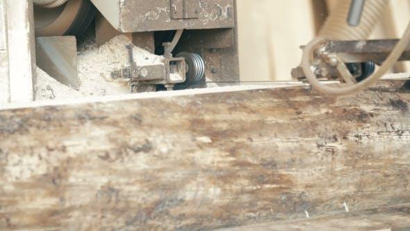 Thumbnail for Wood Cutting Machine Board Log In a Sawmill
