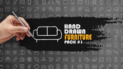 Lot de meubles dessinés à la main 1