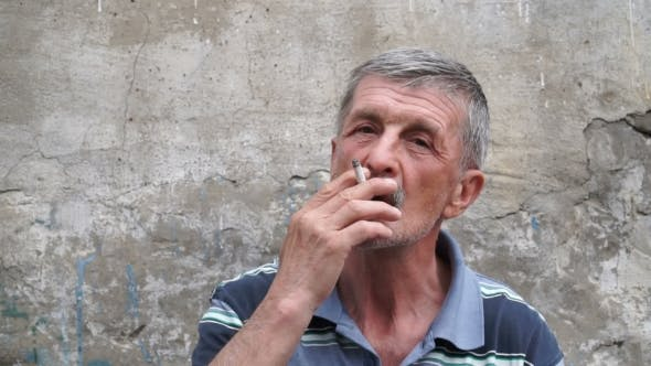 Thumbnail for Old Man Smoking a Cigarette