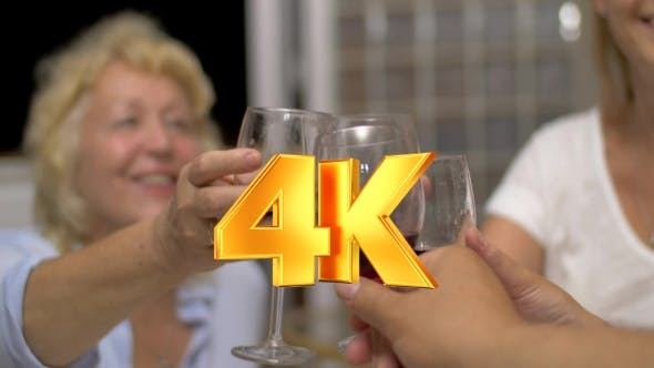 Thumbnail for People Clinking Glasses With Wine