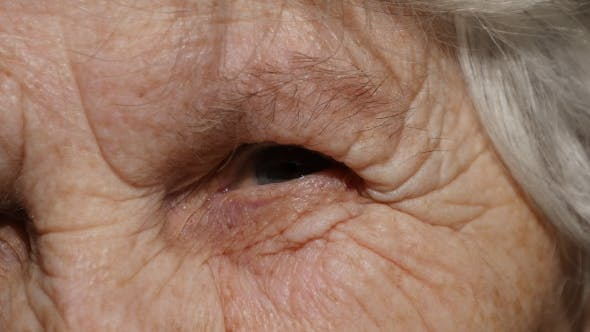 Thumbnail for Portrait Of a Old Woman's Gaze. Eye Of Grandmother