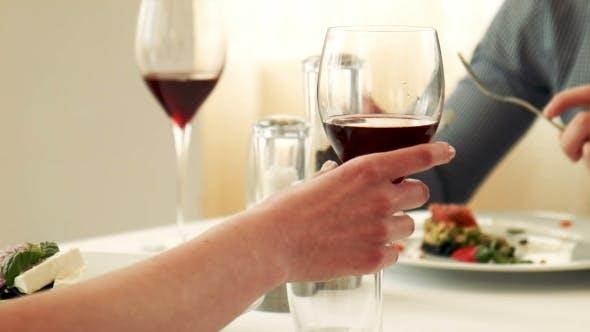 Thumbnail for Female Taste Red Wine In Glass