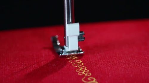 Pattern Sewing Needle In  Stitching.  Sewing Needle Stitching
