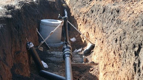 A Trench with a Gas Pipeline