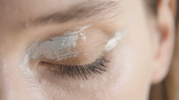 Makeup . Eyebrow Makeup, Long Eyelashes, Brush.