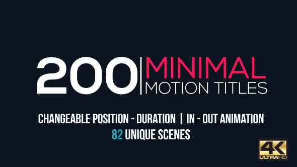 Thumbnail for Minimal Motion Titles Pack