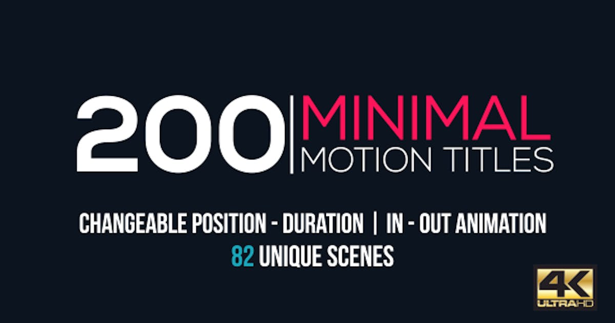 Download Minimal Motion Titles Pack by CandyMustache