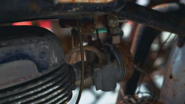 Thumbnail for Close-up of Motorcycle Rusty Engine