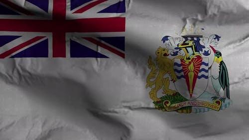 British Antarctic Territory Flag Textured Waving Background 4K