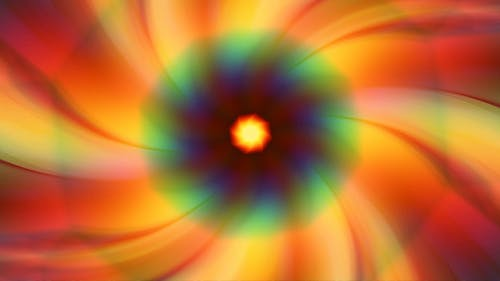 Spinning Colorful Floral Background