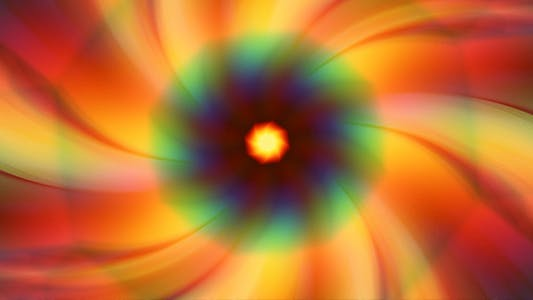 Thumbnail for Spinning Colorful Floral Background