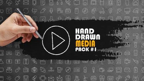 Pack média dessiné à la main 1