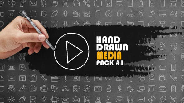 Hand Drawn Media Pack 1