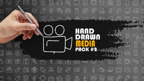 Pack média dessiné à la main 2