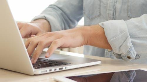 Typing on Laptop, w/ Sliding Camera