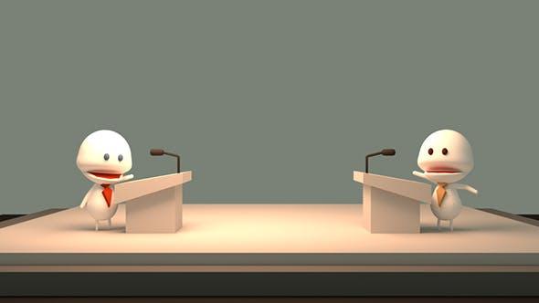 Thumbnail for 3D Cartoon Public Debate