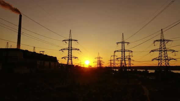 High-voltage electric lines
