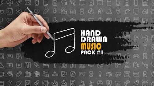 Pack de musique dessinée à la main 1