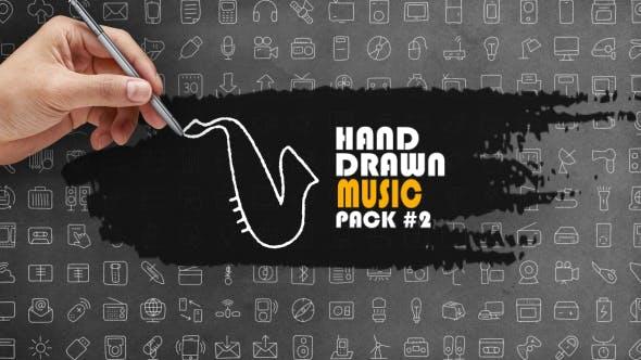Pack de musique dessinée à la main 2