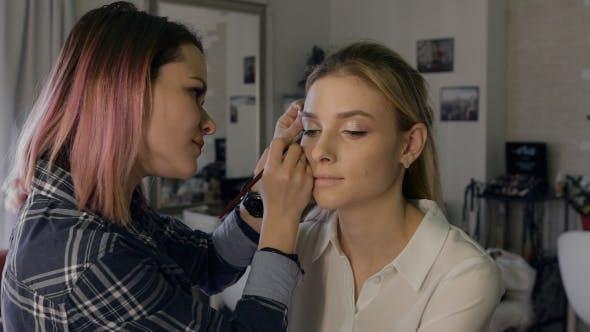 Professional Stylist Making Make-Up