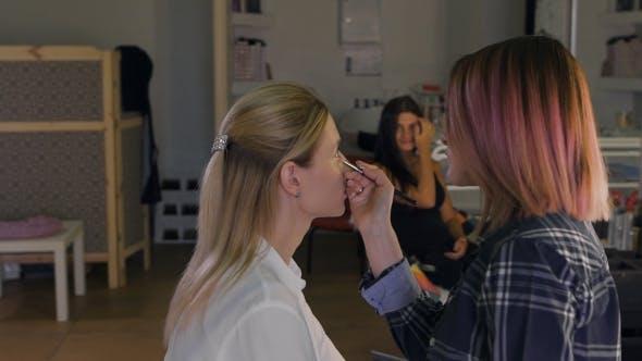Thumbnail for Make-up Artist Work on Her Friend