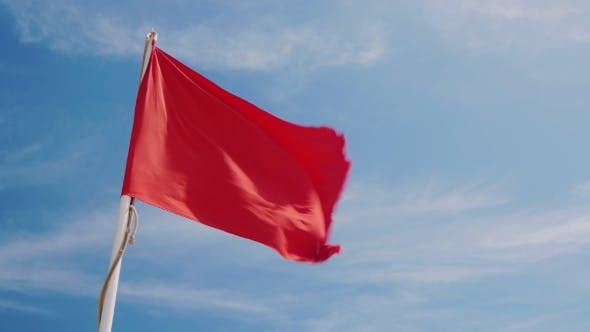 Thumbnail for Red Flag On a Background Of Blue Sky