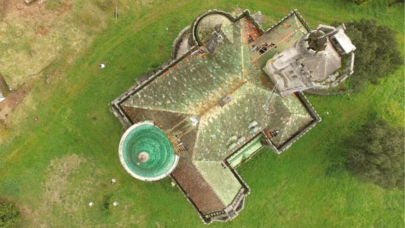 Thumbnail for Aerial View Abandoned Castle