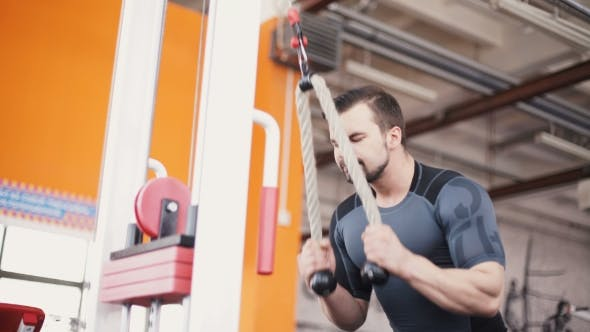 Thumbnail for Exercising On Pull Down Weight Machine
