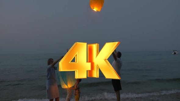 Thumbnail for Happy Family Releasing Sky Lantern
