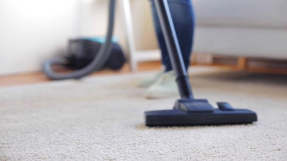 Thumbnail for Woman With Vacuum Cleaner Cleaning Carpet At Home 103