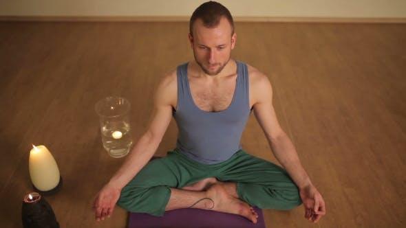 Thumbnail for Handsome Man Meditating