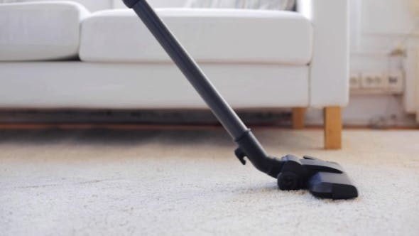 Thumbnail for Woman With Vacuum Cleaner Cleaning Carpet At Home 97