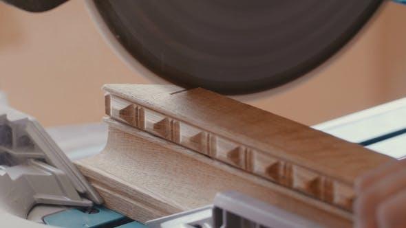Thumbnail for Circular Saw. Carpenter Using Circular Saw For Wood