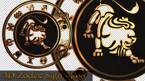 Thumbnail for 3D Zodiac Sign - Leo