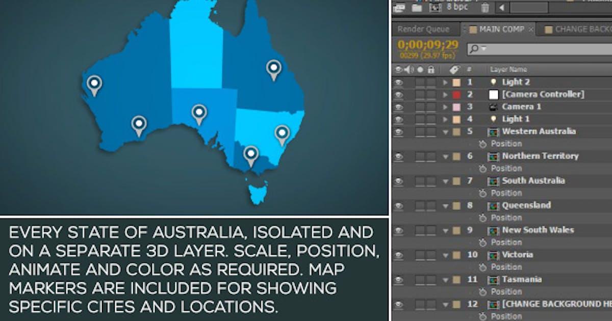 Download Australia Map Kit by SpaceStockFootage