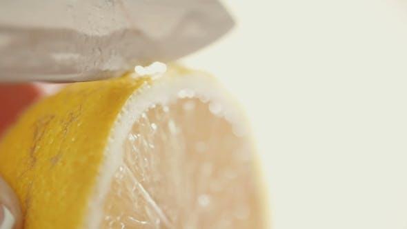 Thumbnail for Cutting Fresh Lemon Into Pieces