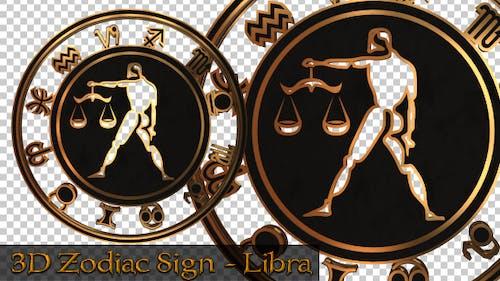 3D Zodiac Sign - Libra