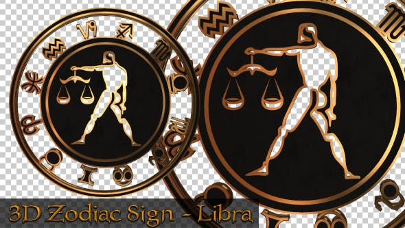 Thumbnail for 3D Zodiac Sign - Libra