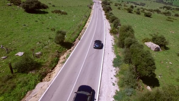 Thumbnail for Aerial View Of Driving Car